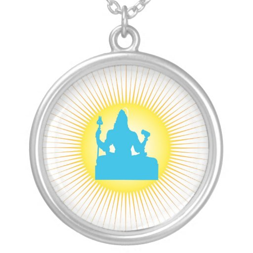 Lord Shiva and sun - Necklace