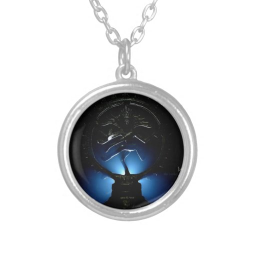Lord Shiva Blue Background. Custom Necklace