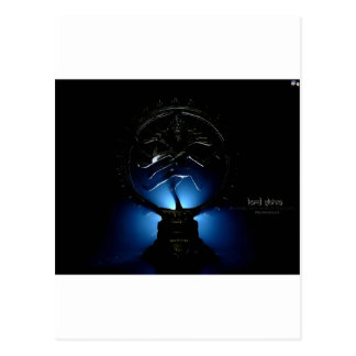 Lord Shiva Blue Background. Postcard