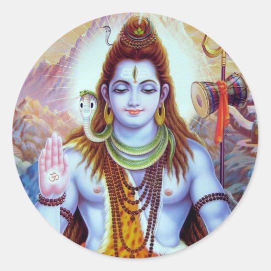 Lord Shiva Classic Round Sticker