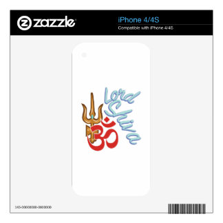 Lord Shiva Decal For iPhone 4