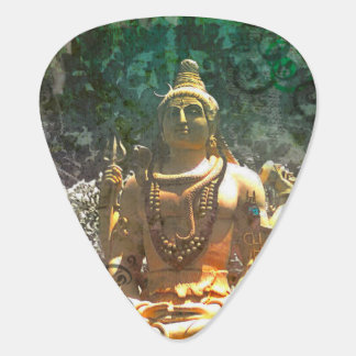 Lord Shiva/ Green Abstract Pattern Guitar Pick