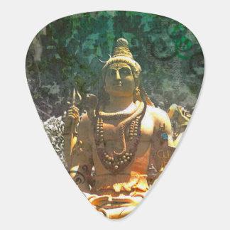 Lord Shiva/ Green Abstract Pattern Guitar Pick