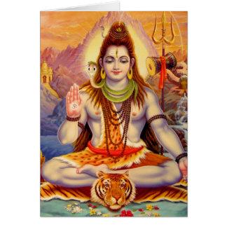 Lord Shiva Meditating Card
