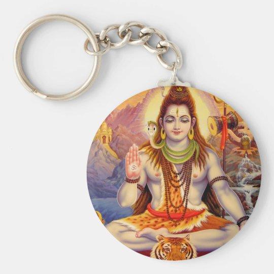Lord Shiva Meditating Keychain