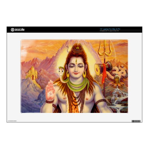 Lord Shiva Meditating Laptop Skin