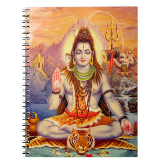 Lord Shiva Meditating Notebook