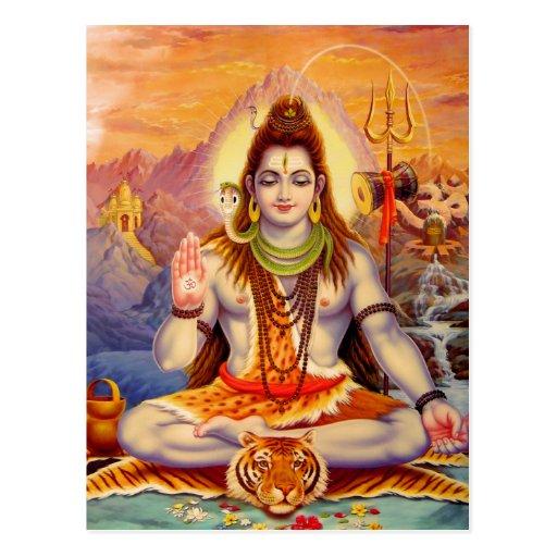 Lord Shiva Meditating Postcard