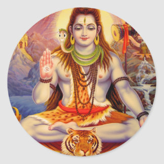 Lord Shiva Meditating Sticker