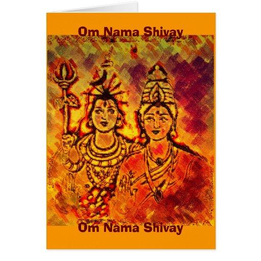 Lord Shiva Parvati Card