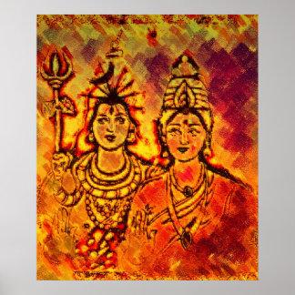Lord Shiva Parvati Poster
