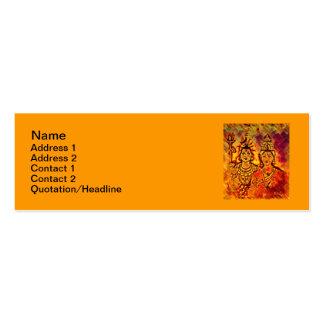"""Lord Shiva Parvati Skinny 3""""x1"""" Business Card"""