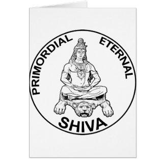 Lord Shiva primordial eternal, Indian God Card