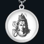 """Lord Shiva Silver Plated Necklace<br><div class=""""desc"""">Lord Shiva</div>"""