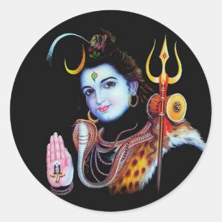 Lord Shiva Round Stickers