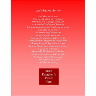 Lord Show Me the Way - Daughter Photo Cutout