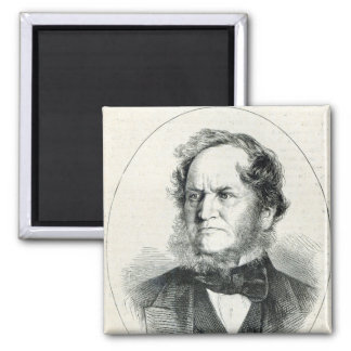 Lord Stanley  after a photograph 2 Inch Square Magnet