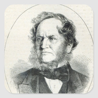 Lord Stanley  after a photograph Square Sticker