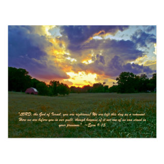 """""""LORD, the God of Israel, you are righteous! We ar Postcard"""