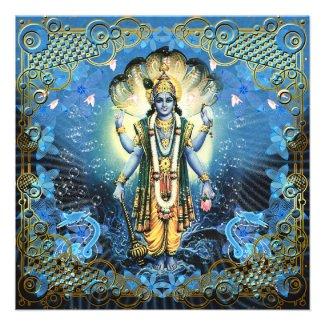 Lord Vishnu - Card, Greeting, Invite