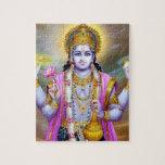 Lord Vishnu Floral Fine Art Puzzle