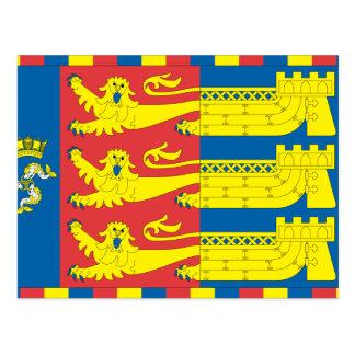 Lord Warden Cinque Ports, United Kingdom flag Postcard