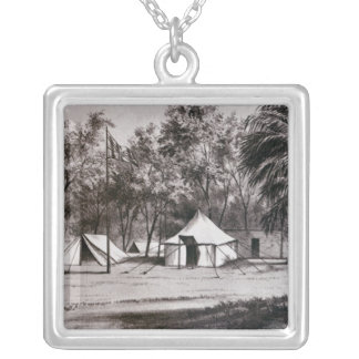 Lord Wolseley's Camp at Korti Silver Plated Necklace