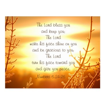 CChristianDesigns Lord's Blessing Bible Verse Postcard