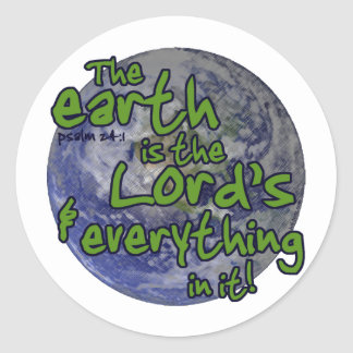 Lord's Earth Round Stickers