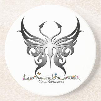 Lords of the Underworld coaster. Sandstone Coaster