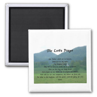 Lord's Prayer at Wolf Fork Valley 2 Inch Square Magnet