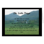 Lord's Prayer at Wolf Fork Valley Greeting Card