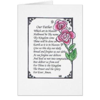 Lord's prayer card