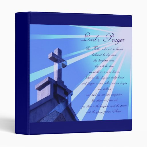 Lord's Prayer Design Binder