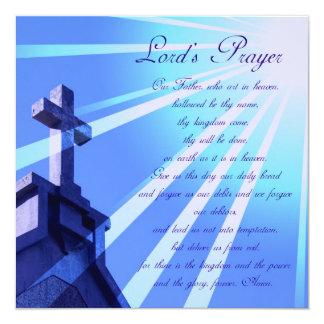 """Lord's Prayer Design Invitations 5.25"""" Square Invitation Card"""