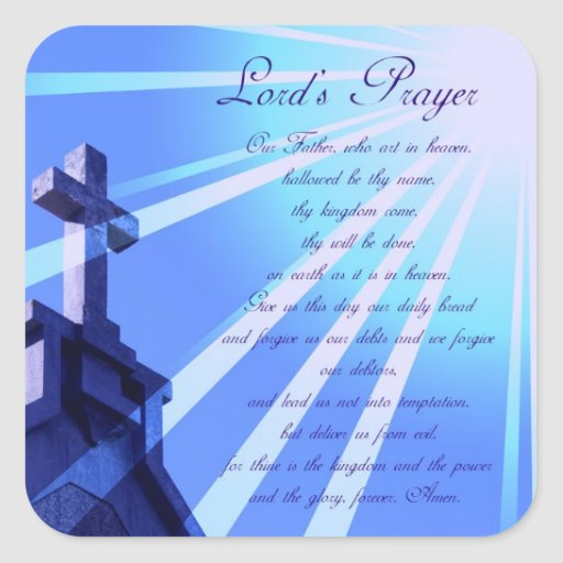 Lord's Prayer Design Stickers