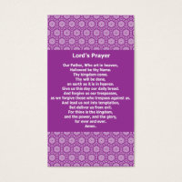 Lord's Prayer Evangelical Witness Cards