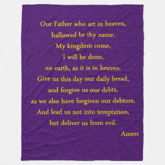 LORDS PRAYER FLEECE BLANKET