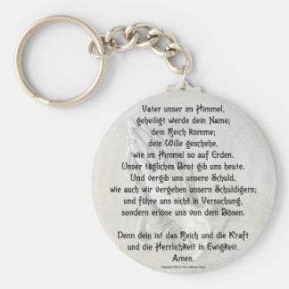 Lord's Prayer (German) Keychain