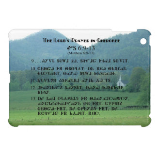 Lord's Prayer in Cherokee Characters iPad Mini Cas iPad Mini Cases