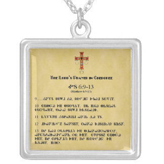 LORD'S PRAYER IN CHEROKEE NECKLACE