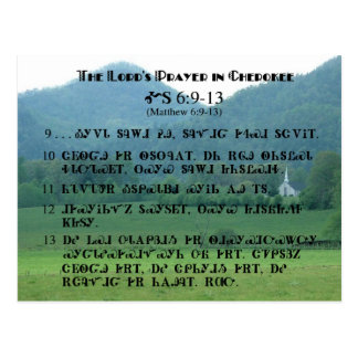 Lord's Prayer in Cherokee Postcard