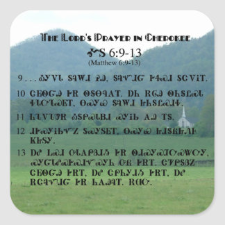 Lord's Prayer in Cherokee Sticker