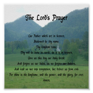 Lord's Prayer in the Mountains Poster