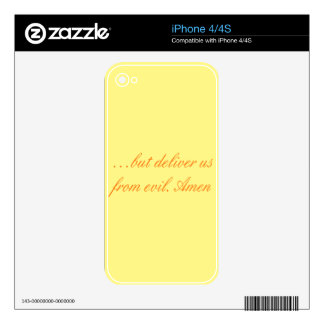 Lord's Prayer iPhone 4 Skins