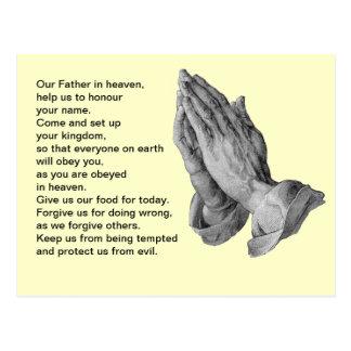 Lord's Prayer Postcard