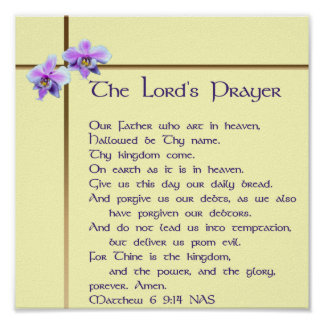Lord's Prayer Poster