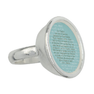 Lord's prayer ring, christian jewelry gifts rings