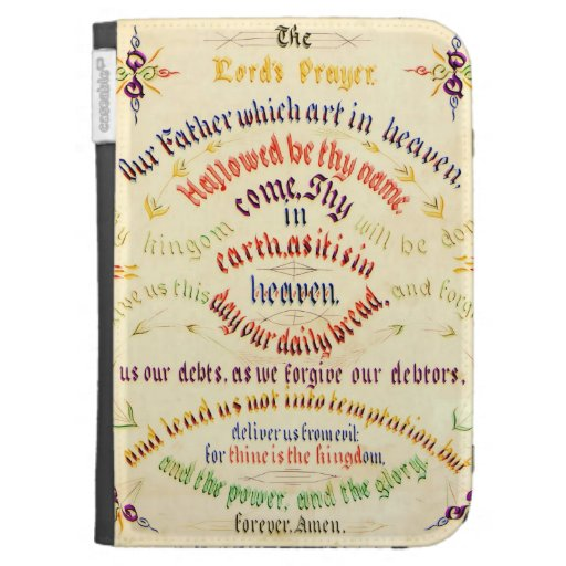 Lord's Prayer -Ten Commandments Calligraphy 1889 Kindle 3 Covers