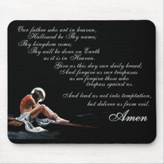 Lords Prayer w/ Jesus Mouse Pad